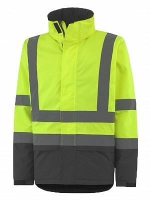 Helly Hansen 70335, Warnschutz Regenjacke EN ISO 20471 ALTA INSULATED, gelb