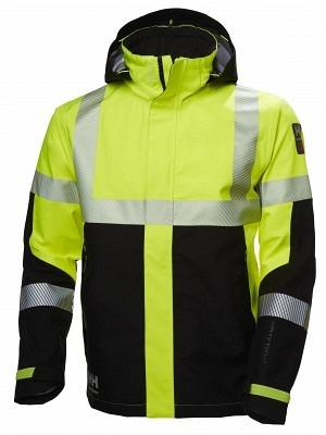 Helly Hansen 71172, Warnschutz Regenjacke ICU EN ISO 20471, gelb-schwarz