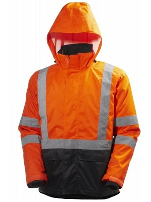 Helly Hansen 71370, Warnschutz ZIP-IN Regenjacke EN20471 ALTA, orange-schwarz