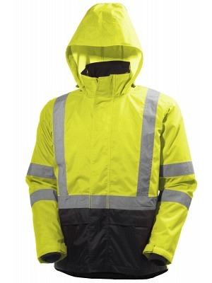 Helly Hansen 71370, Warnschutz ZIP-IN Regenjacke EN20471 ALTA, gelb-charcoal