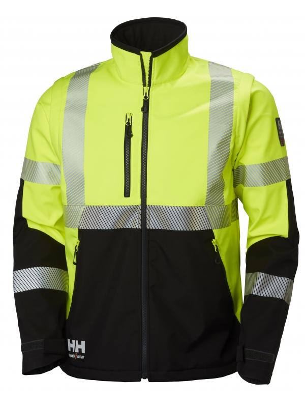 Helly Hansen 74272, Warnschutz Softshell Jacke ICU EN ISO 20471, gelb-schwarz
