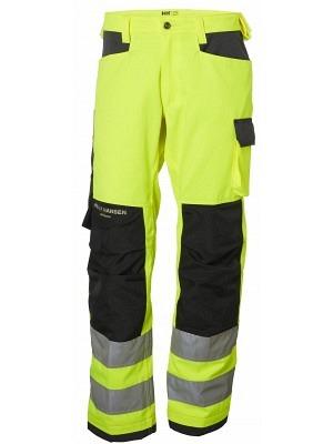 Helly Hansen 77411, Arbeitshose ALNA EN ISO 20471 Cl. 2, gelb-charcoal