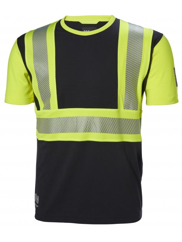 Helly Hansen 79271, Warnschutz T-Shirt ICU EN ISO 20471, gelb-ebony
