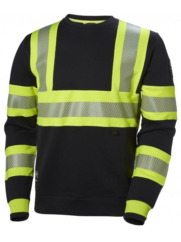 Helly Hansen 79272, Warnschutz Sweater ICU EN ISO 20471, gelb-ebony