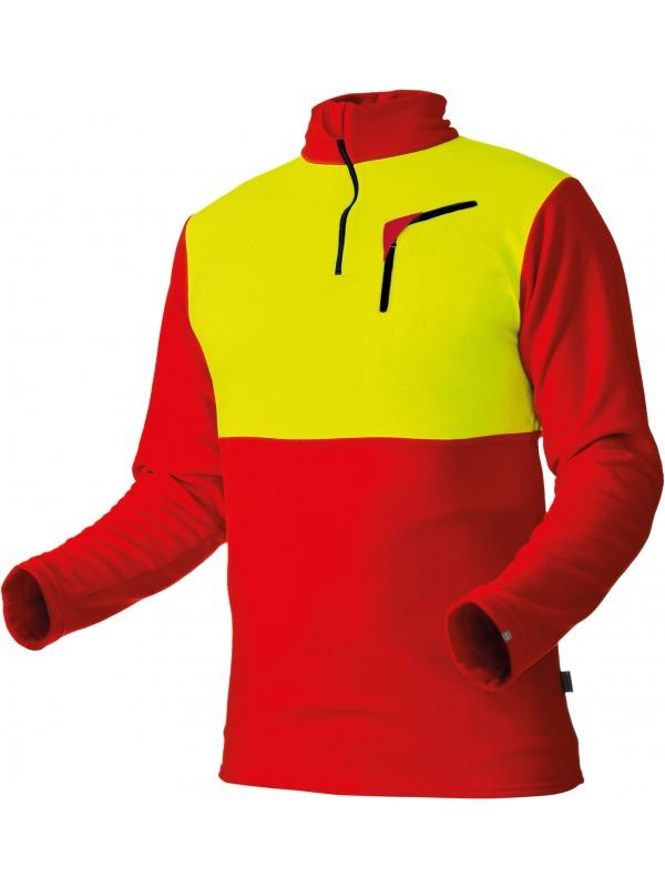 Pfanner Husky-Shirt mit Reissverschluss, langarm, 101096, rot-gelb