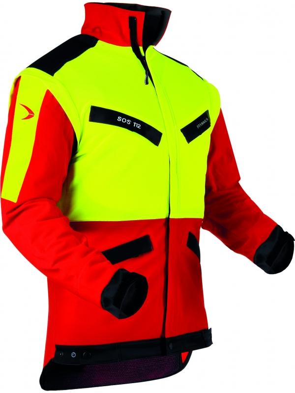 Pfanner Forstjacke, Klima-Air 804163, rot-gelb