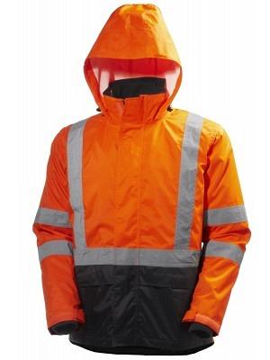 Helly Hansen 71370, Warnschutz ZIP-IN Regenjacke EN20471 ALTA, orange-schwarz