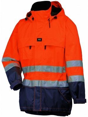 Helly Hansen 71377, wattierte Warnschutz Regenjacke EN471 LUDVIKA, orange-navy **nur solange Vorrat**