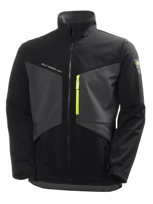 HELLY HANSEN Jacke Aker Softshell dunkelgrau-schwarz Gr XL Airsoft Bekleidung & Schutzausrüstung