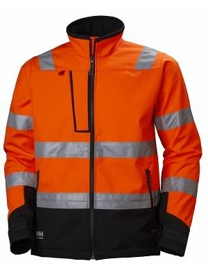 Helly Hansen 74094, Warnschutz Softshelljacke EN ISO 20471 ALNA, orange-ebony