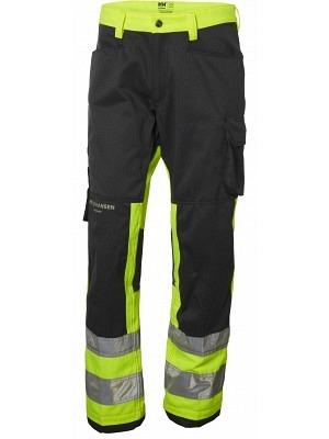 Helly Hansen 77410, Arbeitshose ALNA EN ISO 20471 Cl. 1, gelb-charcoal