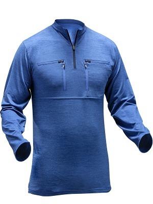 Pfanner 101386, Funktionsshirt Skin-Dry Thermo, langarm, blau